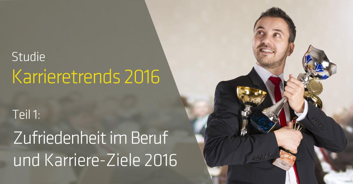Studie Karrieretrends 2016 (Teil 1): So Zufrieden Sind Die Deutschen Im Beruf
